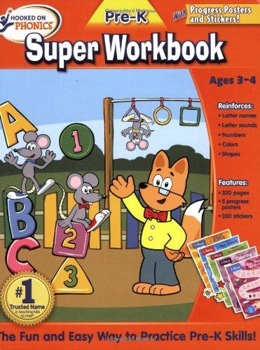 9781601439581: Hooked on Pre-K Super Workbook (Hooked on Phonics)