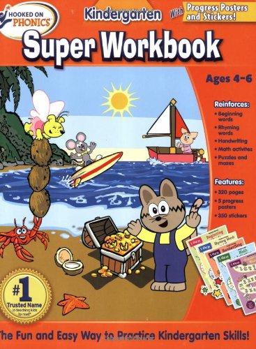 9781601439598: Hooked on Phonics Kindergarten Super Workbook