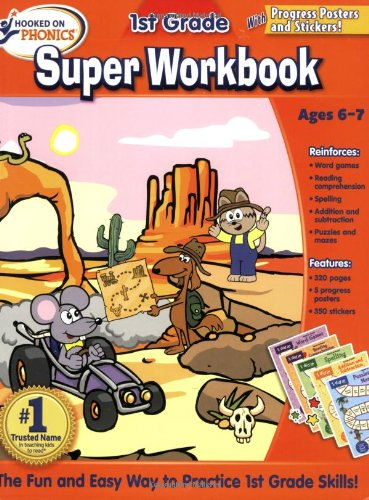 9781601439604: Hooked on Phonics 1st Grade Super Workbook