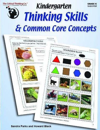 Kindergarten Thinking Skills & Common Core Concepts