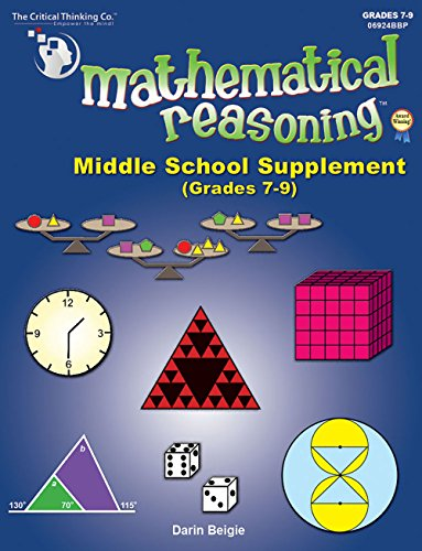 9781601446442: Mathematical Reasoning Middle School Supplement