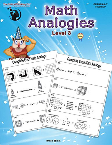 9781601447012: Math Analogies Level 3 (Grades 6-7)