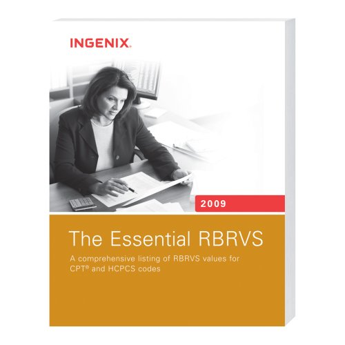 The Essential RBRVS 2009 (160151218X) by Ingenix
