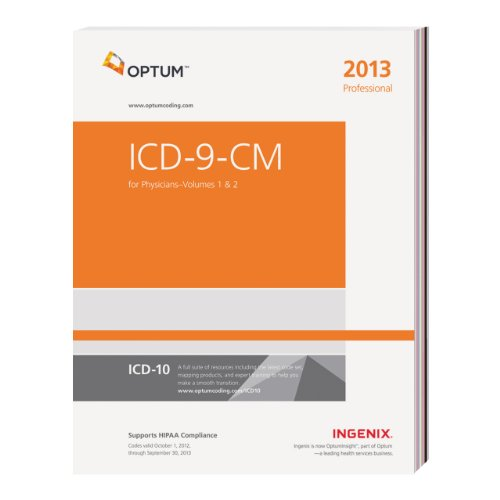 9781601516169: 1-2: ICD-9-CM Professional for Physicians--2013 Edition (Physician's Icd-9-Cm)