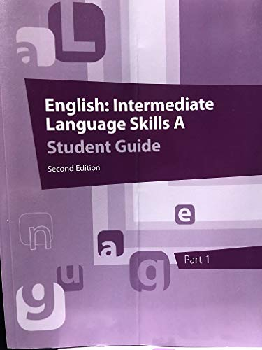 9781601534217: English: Intermediate Language Skills A Student Guide Part 1 2nd Edition