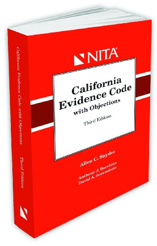 9781601560063: California Evidence Code with Objections