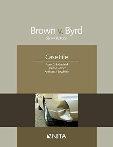 9781601562203: Brown v. Byrd Case File (second edition)