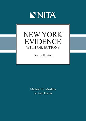 9781601562210: New York Evidence with Objections