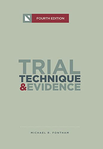 9781601562456: Trial Technique & Evidence