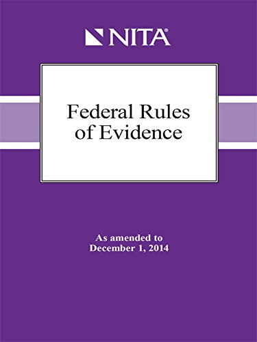 9781601564412: Rules of Evidence as amended to December 1, 2014