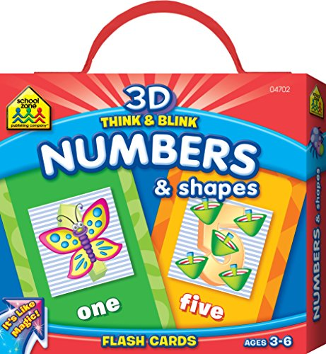 9781601591029: 3D Think & Blink Numbers & Shapes Flash Cards