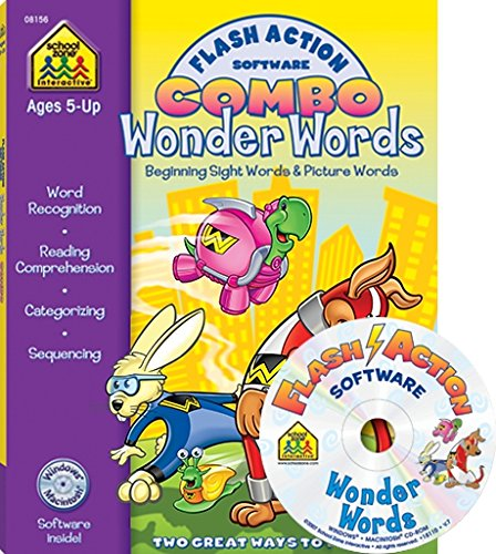 9781601591128: Flash Action Software Combo Wonder Words: Beginning Sight Words & Picture Words