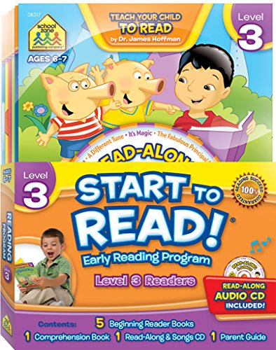 SCHOOL ZONE - Start to Read! Level 3 Early Reading Program 6-Book Set, First Grade, Ages 6 to 7, ...