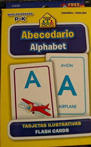 9781601595690: School Zone Bilingual Spanish English Alphabet (Abecedario) Flash Cards Grades P-K