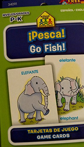 9781601595768: School Zone Bilingual Spanish English Go Fish (Pesca) Card Game Grades P-K
