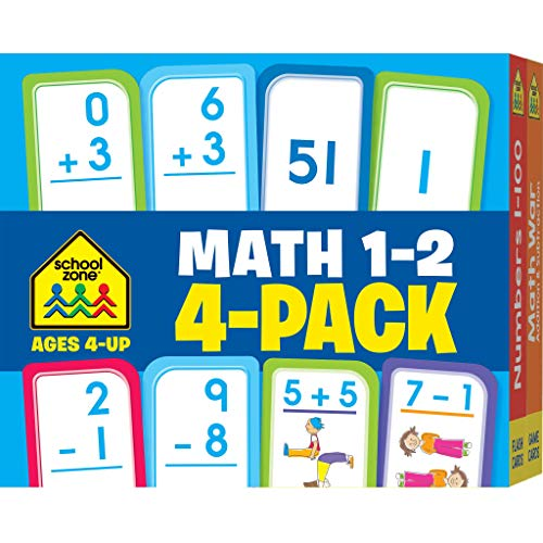 9781601599360: Math 1-2 Flash Card 4-Pack
