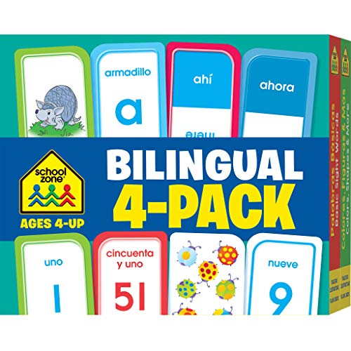 9781601599384: Bilingual Spanish/English Flash Card 4-Pack