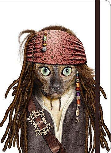 """Pets Rock """"Pirate"""" Journal, small Blanko Buch mit Stifthalter"""