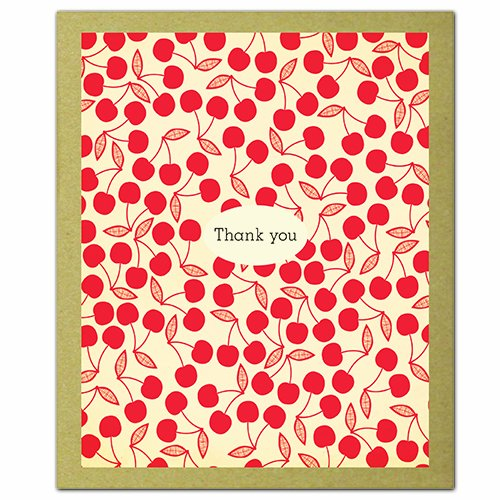 9781601608239: Cherry Pie: GreenThanks -- Thank You Notecards made from uncoated eco-friendly paper decorated with contemporary designs & illustrations