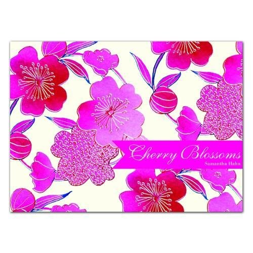 9781601608468: Cherry Blossoms: Notecard Boxes -- a stationery flip-top box filled with 20 Notecards perfect for Greetings, Birthdays or Invitations