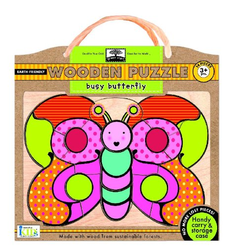 Green Start Busy Butterfly Wooden Puzzle (Green Start Wooden Puzzles): Ikids