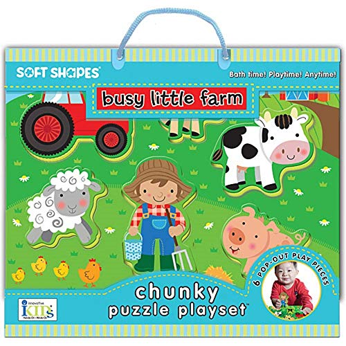 9781601691156: Soft Shapes Busy Little Farm Chunky Puzzle