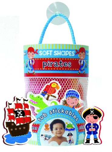 9781601692313: Soft Shapes Tub Stickables: pirates (Illustrated Bath Stickers)