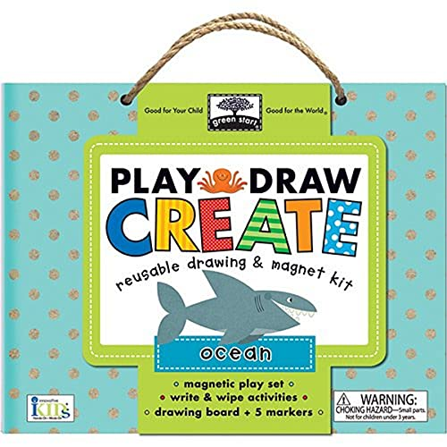 9781601692672: green start play, draw, create: ocean (reuseable drawing & magnet kit)