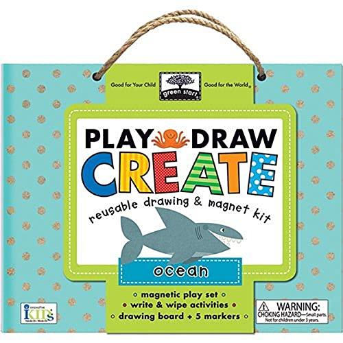 9781601692672: green start play, draw, create: ocean (reuseable drawing & magnet kit)