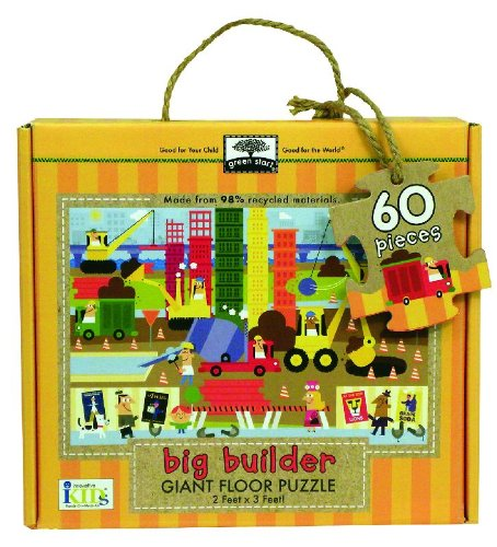 9781601693129: Green Start Giant Floor Puzzle: Big Builder (60 Piece Floor Puzzles Made of 98% Recycled Materials)