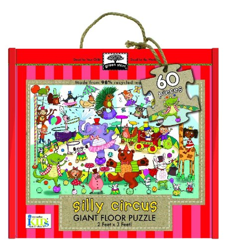 9781601693136: Green Start Giant Floor Puzzle: Silly Circus (60 Piece Floor Puzzles Made of 98% Recycled Materials)