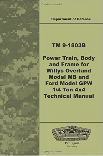 9781601709905: TM 9-1803B Power Train, Body, and Frame for Willys Overland Model MB and Ford Model GPW ¼ Ton 4x4 Technical Manual