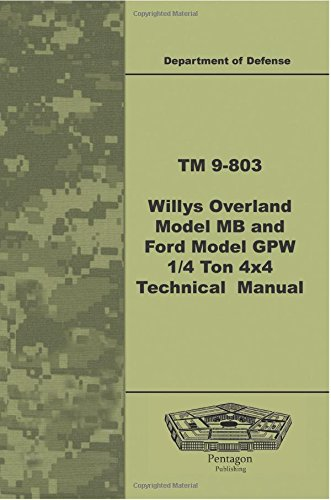9781601709929: TM 9-803 Willys Overland Model MB and Ford Model GPW ¼ Ton 4x4 Technical Manual