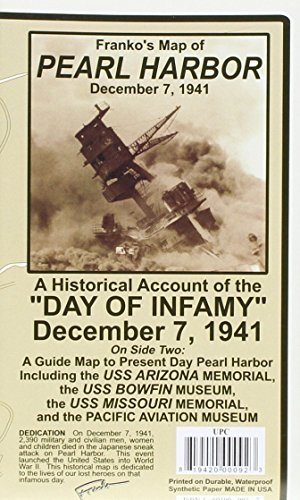 Pearl Harbor History & Guide Map: Franko Maps