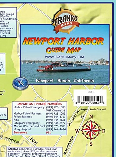 9781601901316: Newport Harbor & Upper Newport Bay California Franko Maps Waterproof Map