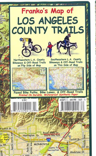9781601901637: Franko's Map of Los Angeles County Trails