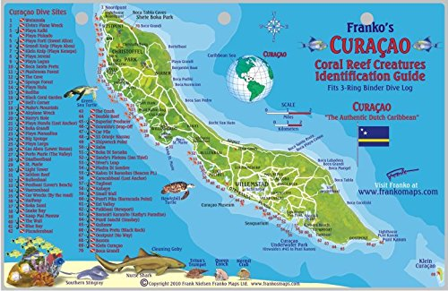 9781601901750: Curacao Dive Map & Reef Creatures Guide Franko Maps Laminated Fish Card