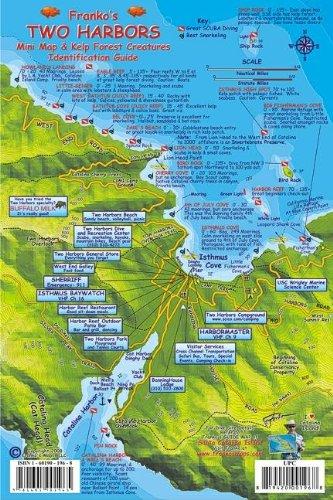 9781601901965: Two Harbors Santa Catalina Map & Kelp Forest Creatures Guide Franko Maps Laminated Fish Card