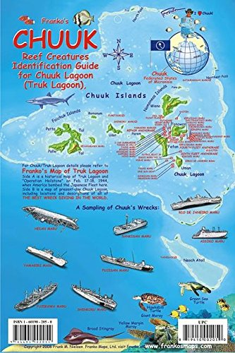 9781601902054: Chuuk (Truk) Lagoon Map & Reef Creatures Guide Franko Maps Laminated Fish Card