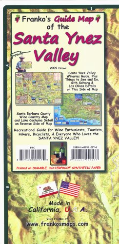 9781601902177: Franko's Map of Santa Ynez Valley