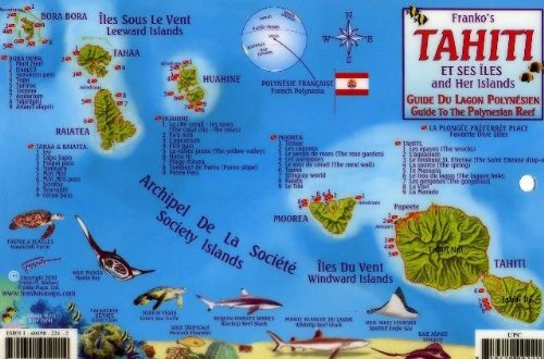 9781601902214 Tahiti Society Islands Dive Map Reef