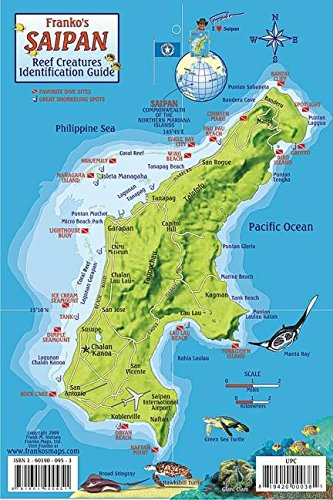 9781601902283: Saipan Map & Reef Creatures Guide Franko Maps Laminated Fish Card