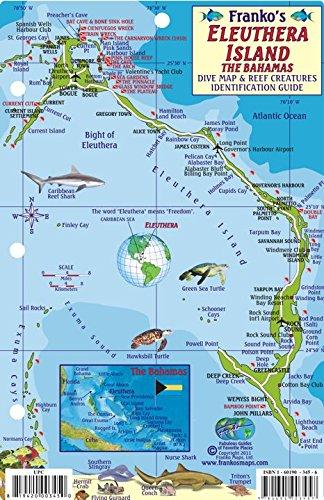 9781601903457: Eleuthera Island Bahamas Dive Map & Reef Creatures Guide Franko Maps Laminated Fish Card