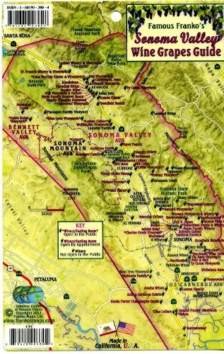 9781601903808: Sonoma Valley Wine Grapes Map & Guide Franko Maps Laminated Card