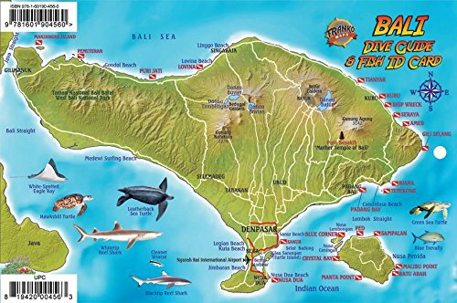 9781601904560 Bali Indonesia Dive Map Coral Reef