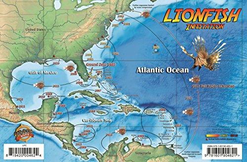 9781601904621: Lionfish Infestation Map & Guide Franko Maps Laminated Card