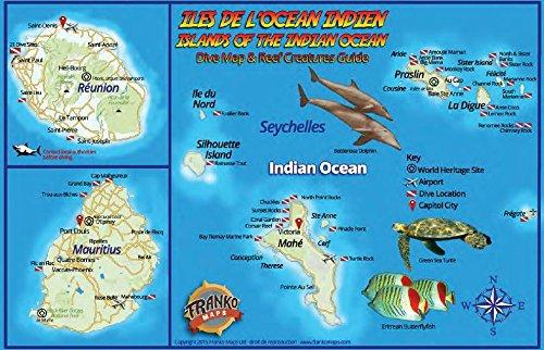 Indian Ocean Islands Dive Map & Coral: Franko Maps Ltd.