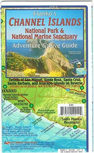 9781601909480: Channel Islands California Adventure & Dive Guide Franko Maps Waterproof Map