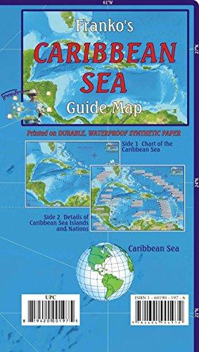 9781601909589: Caribbean Sea Guide Franko Maps Waterproof Map