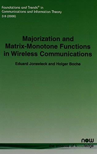 9781601980403: Majorization and Matrix Monotone Functions in Wireless Communications (Foundations and Trends in Communcations and Information Theory)